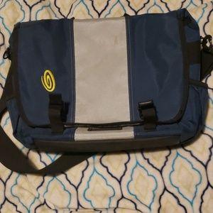 TIMBUK2 gray and blue messenger bag